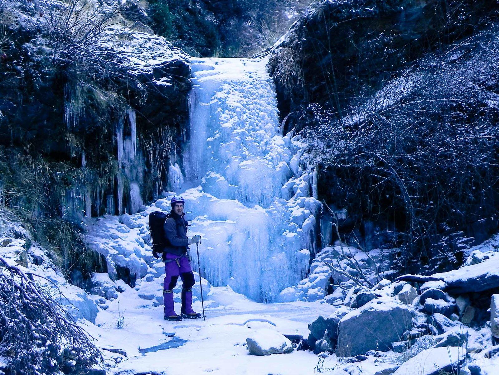 Cascadas de hielo desde el minuto cero