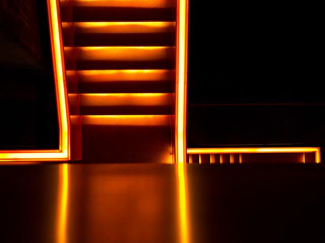 Illuminated Stairs, Ruhr-Museum, Zeche Zollverein, Essen