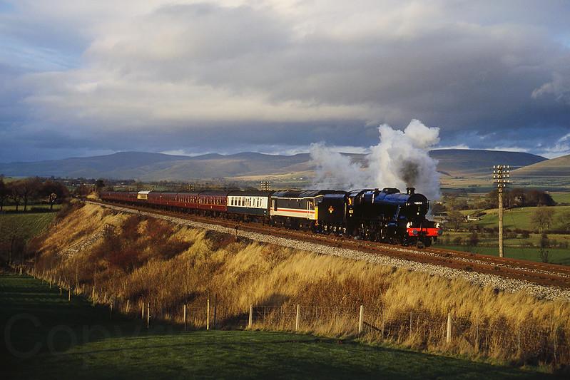12th November 1988 LMS 8F 48151 passing Ormside on the Settle & Carlisle
