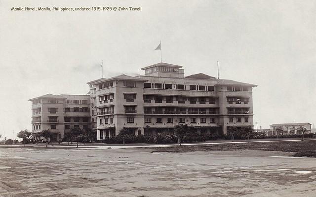 Manila Hotel, Manila, Philippines, undated 1915-1925
