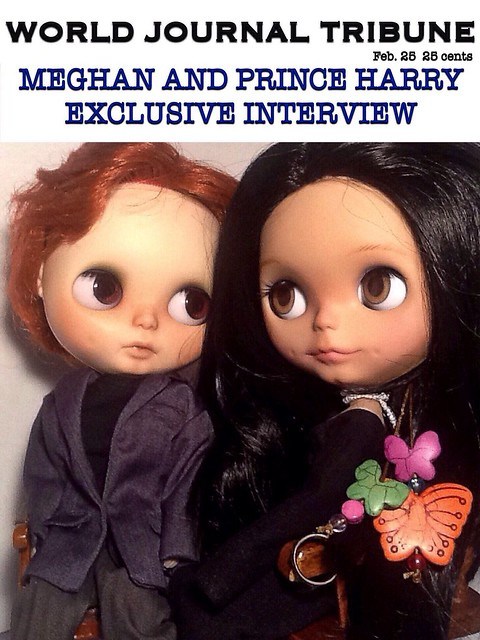 Toy-in-the-Frame Thursday; and Blythe-a-Day#26. Love is like a Butterfly: Meghan Markle and Prince Harry