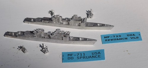 PFC C-in-C Spruance DD destroyer miniatures | by whenimaginationfails