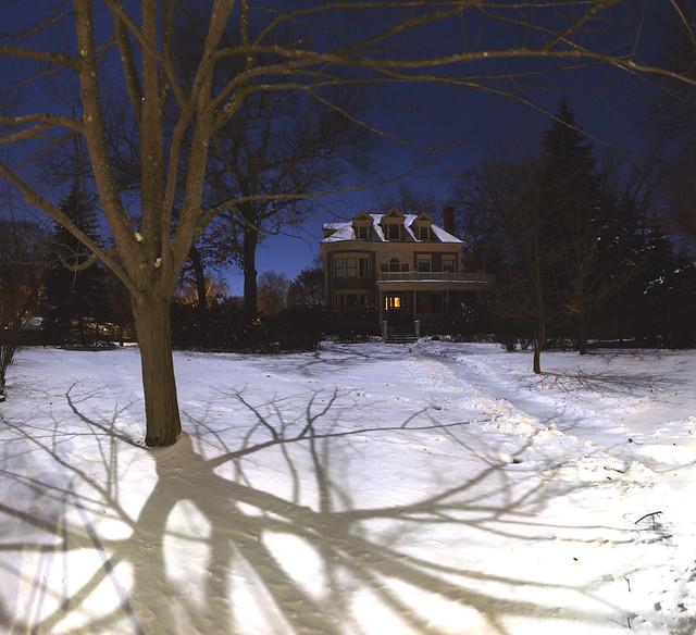 22 parker under a full moon in winter; Wakefield, Massachusetts (2018)