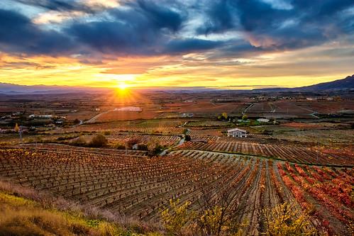 landscape paisaje atardecer sunset riojaalavesa rioja laguardia alava araba paisvasco countrybasque naturaleza nature nubes clouds sinespejo mirrorles evil sony sonya7ii sonya7m2 color tamron tamron247028