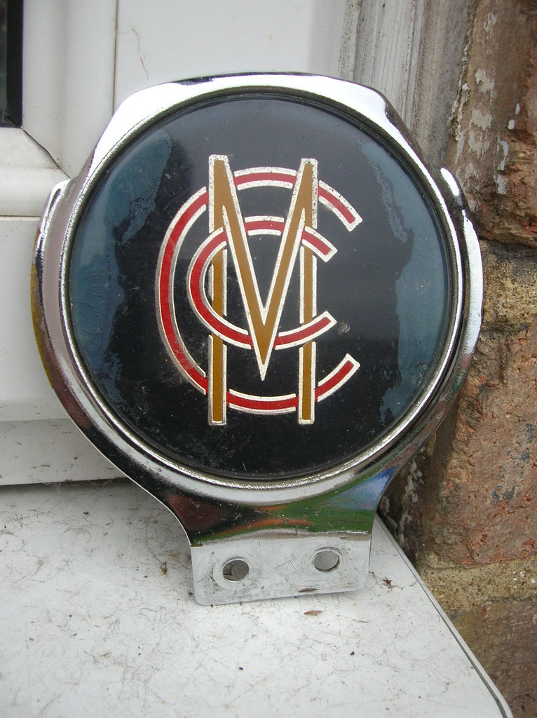 Vintage Marylebone Cricket Club Classic Car Badge Vintage