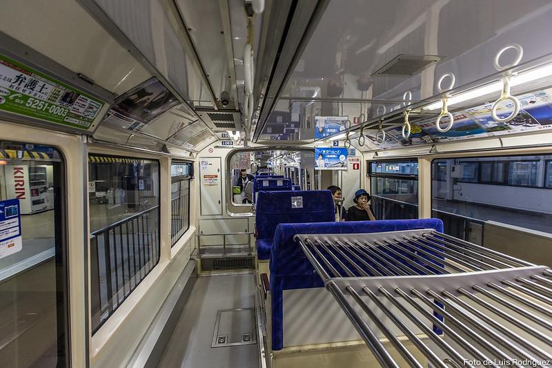 Interior del monorraíl de Tokio