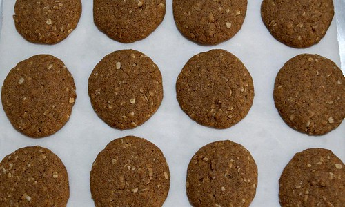Ragi Cookies after baking
