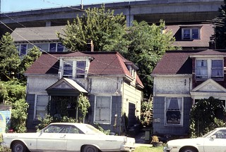Houses below I-5, 1970s