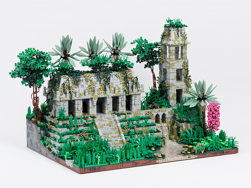 Temple in the Jungles of Celestia, Without Figures | by Jonas Wide ('Gideon')