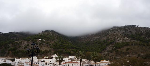 fog over mijas