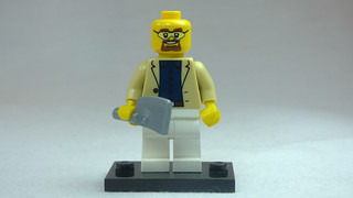 Brick Yourself Custom Lego Figure Smartley Dressed Butcher with Meat Cleaver | by BrickManDan