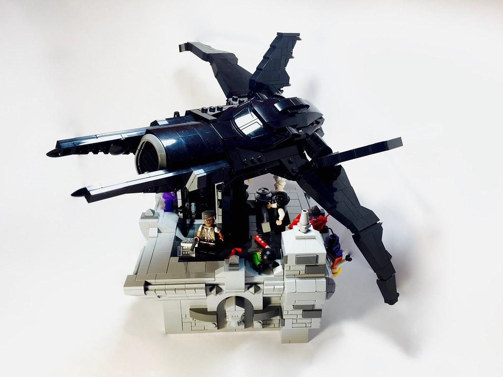 50305 grey//gris//grau 2x Wedge Aile Plaque Plate 3x8 R /& L 50304 Lego