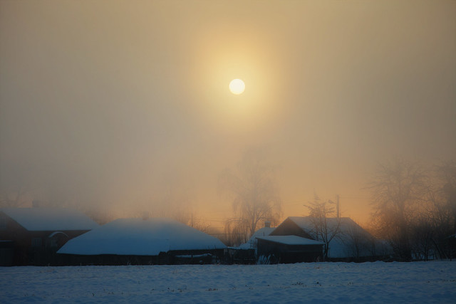 - 25 ℃  ,  morning in the village