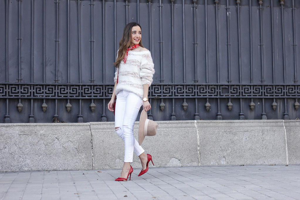 028cd9fe467c ... white outfit touch of red gucci bag primark hat winter outfit 201805 |  by BeSugarandSpice