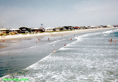 crescent pier hotel ocean waves house south beach 1966 myrtle wave water tower surf sand motel people atlantic swim suit carolina dennis vintage sc bikini bathing hurricane us17