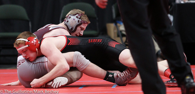 Quarterfinal - Sam Webster (Shakopee) 40-5 won by decision over Scott Springer (Anoka) 38-11 (Dec 5-4) - 180302bmk0034