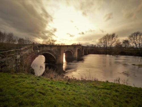 wales wrexham water filter sunset