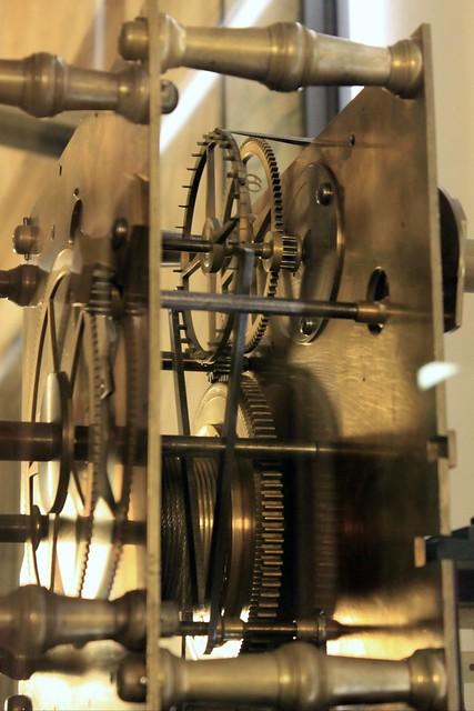 Das Uhrwerk der Akademie-Uhr des Christian Möllinger