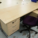 Maple desk comes with ped E150