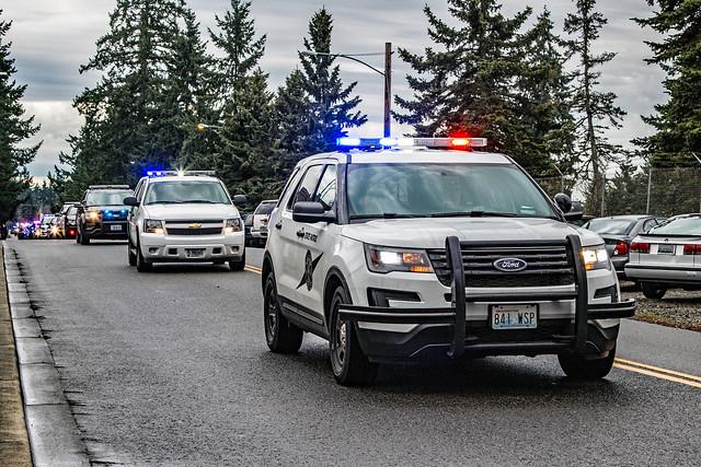 Memorial Procession of Pierce County Sheriff's Department Deputy Daniel McCartney (#484)