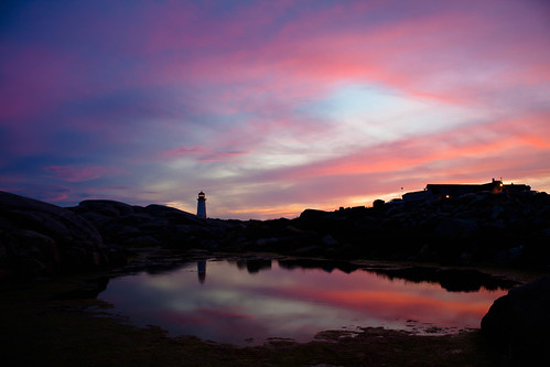 Sunset at Peggy's Cove | by nicktomy