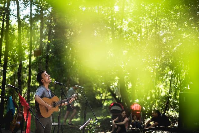 Camilo Eque en el Parque Urbano El Bosque
