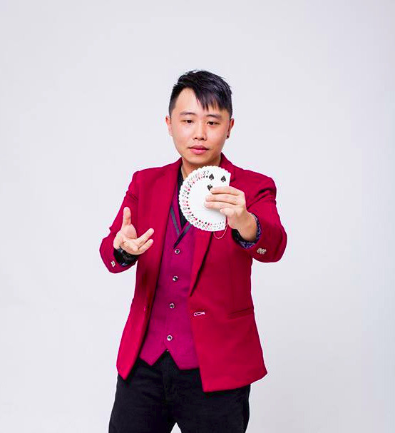 Chris Cheong In Red Suit Potrait