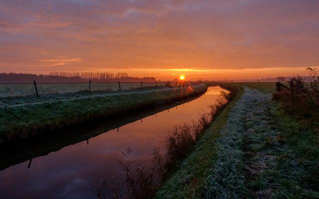 Sunrise at the Borgsloot