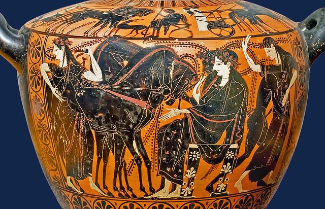 Greek vase 023 Dionysos et Ariadne, detail 13bs - BNF de Ridder 257