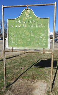 Oklahoma A and M College Marker (Stillwater, Oklahoma)