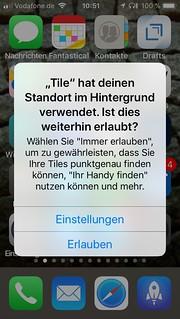 Bestätigung der Standortfreigabe für Hintergrund-Apps | by thosch66