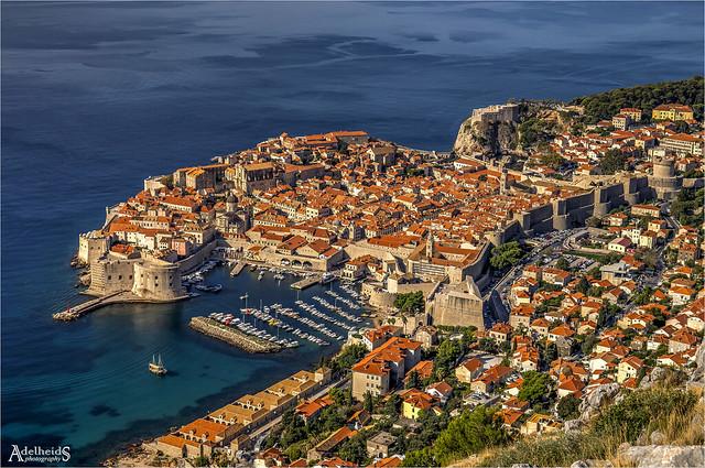 Dubrovnik famous view, Croatia