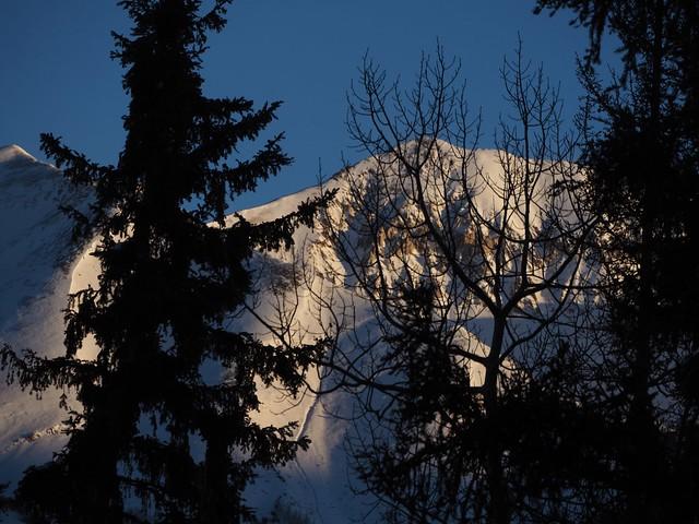 日, 2018-01-14 11:44 - Mountain Lodge 3012から見た朝日