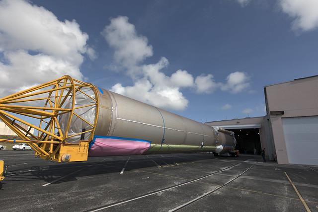 GOES-S Atlas V Booster Arrives at ASOC