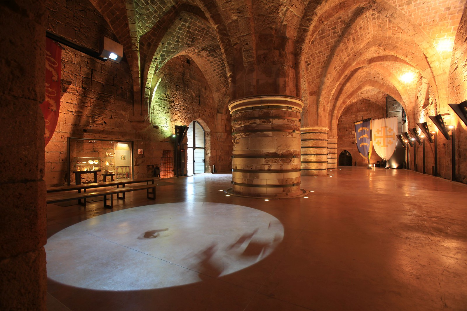 The Crusader Dining Hall at the Hospitaller Fortress. IMG 954 - Alla Laitus