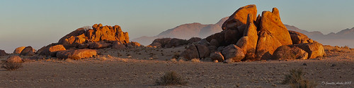 2017 africa desertquivercamp kibokoadventures namibia sossusvlei arid desert landscape morning rocks safari travel namibdesert namibnaukluftnationalpark sunrise panorama pano granite
