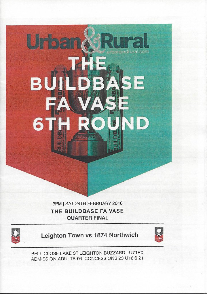 Leighton Town v 1874 Northwich FAVQF