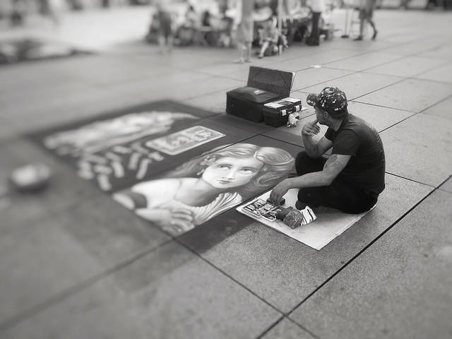 When a street artist feels lonely