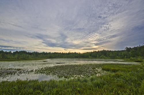 new clouds sunrise dawn hampshire bog amherst daybreak ponemah