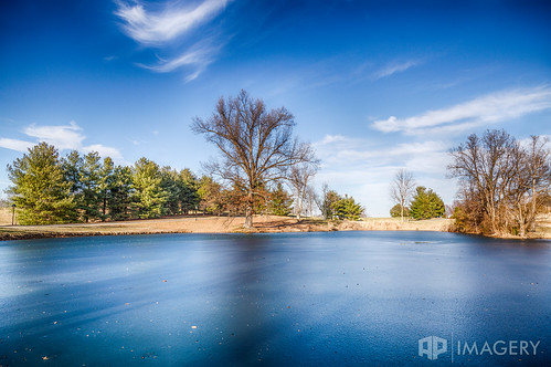 winter lake clouds landscape frozen pond kentucky ky owensboro thesummit daviesscounty thepearlclub