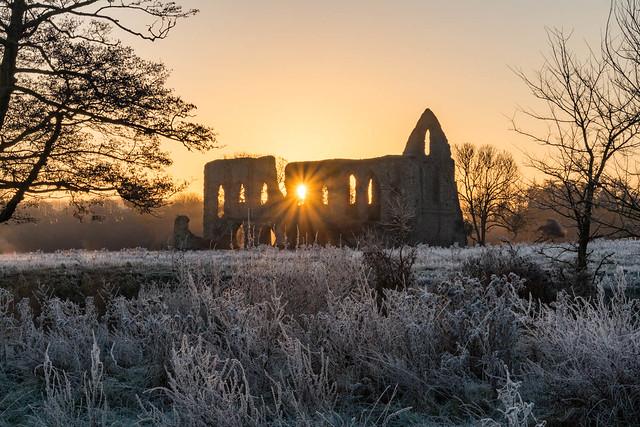 Newark Priory sunrise 20161204_9