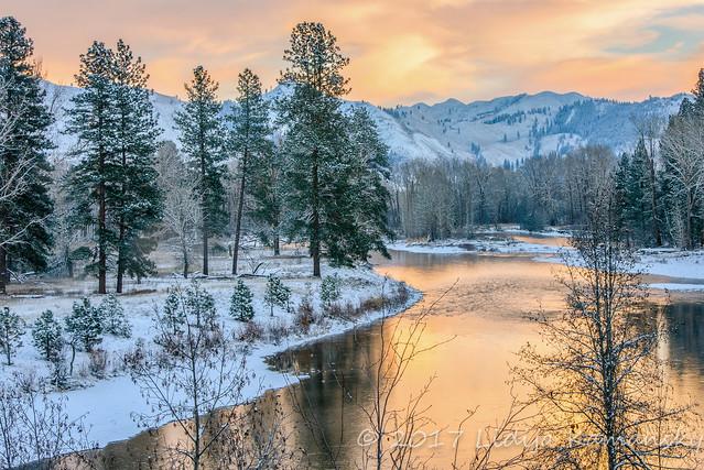 Methow River Winter Glow