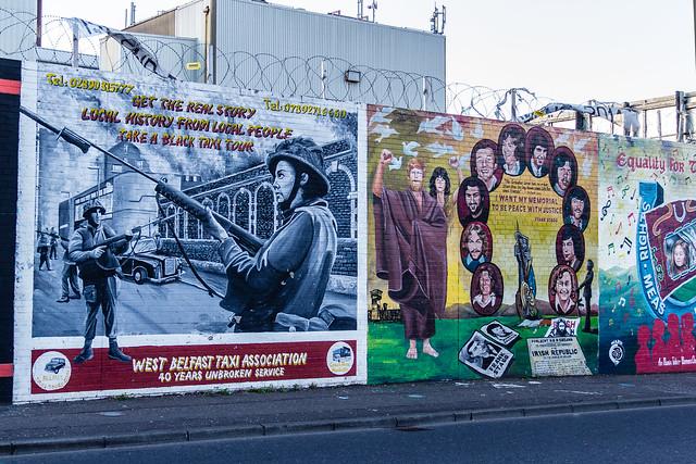 UK - Northern Ireland - Belfast - Falls Road - Independentist Murals