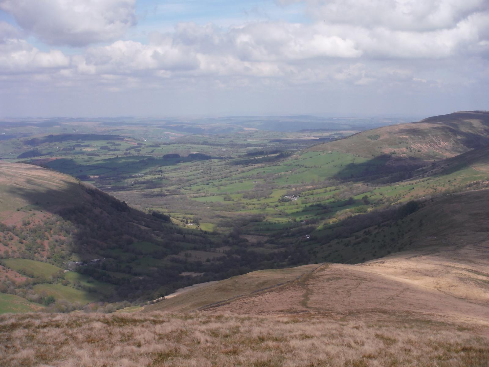 Cwm Treweryn towards Sennybridge SWC Walk 307 - Fforest Fawr Traverse (Craig y Nos to Llwyn-y-celyn)