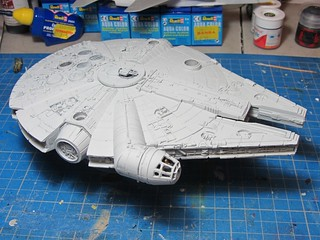 Revell_Millennium_Falcon_Build_wipd_2 | by dermot.moriarty