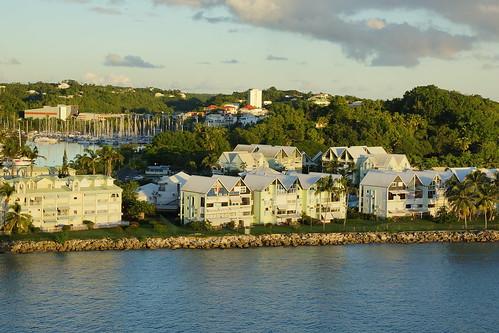 guadeloupe ponte pitre caribbean cruise ship thomson marella discovery sunset