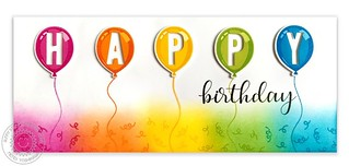 Sunny Studio Birthday Balloon HAPPY Card | by Mendi Y.