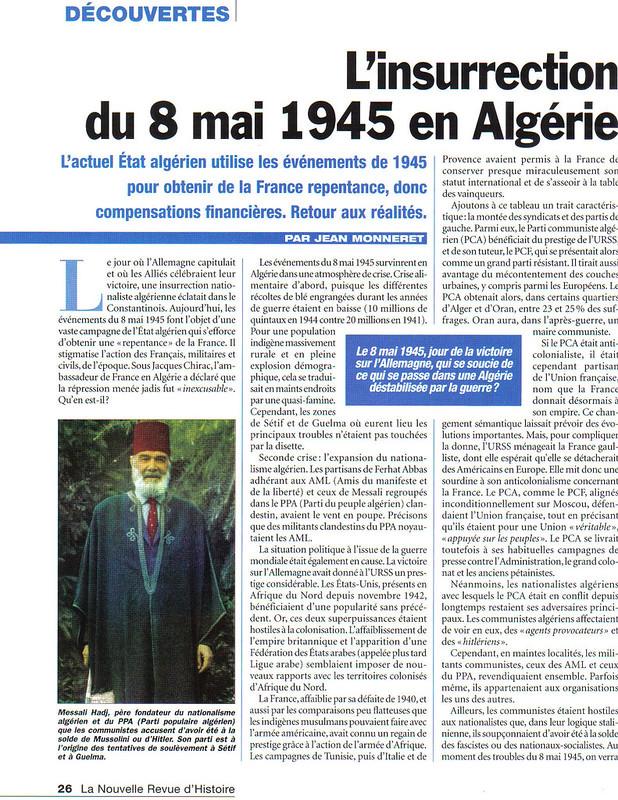1 - L'insurrection du 8 mai 1945 en Algérie