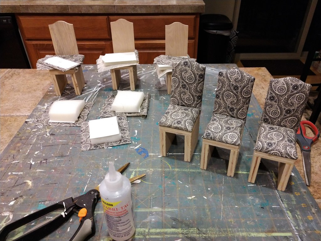 1 6 Scale Parsons Project 1 6 Scale Skirted Parsons Chairs