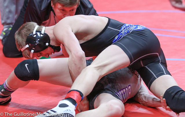 120A Semifinal - Canon Swanson (Belgrade-Brooten-Elrosa) 47-3 won by decision over Jackson Hale (GMLOS) 34-5 (Dec 6-2) - 180303amk0019